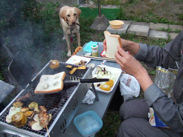 炭火ブルーチーズ挟み