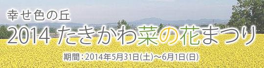 2014 たきかわ菜の花まつり