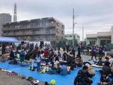 12月2日戸田市芦原町会の餅つき大会
