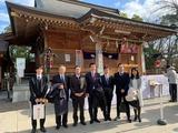 1月4日田中事務所スタッフ&Wink社員・和楽備神社の初祈願