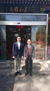 4月14日野村資本市場研究所北京事務所・関根首席代表と昼食2
