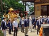 7月19日西堀氷川神社と南区の関神明社・神幸祭3