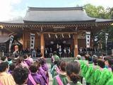 和楽備神社にて神輿宮入・迎踊り