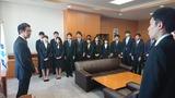 4月2日金融庁・新規採用者の表敬訪問2