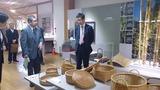 3月4日大分県出張・別府市の竹細工産業会館2