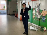10月13日戸田駅頭