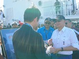 3月21日海上保安庁からの供与巡視船披露式5
