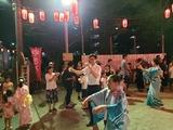 8月9日南区の鹿手袋と二十三夜自治会の盆踊り大会2