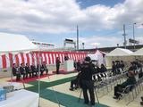 3月17日荒川戸田市・笹目橋上流堤防整備・完成式3