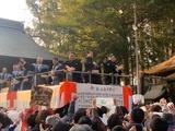 2月3日桜区の西堀氷川神社の節分祭2