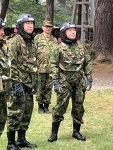 5月13日陸上自衛隊・習志野駐屯地の第一空挺団を視察3