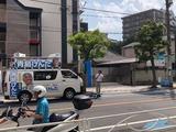 8月17日文化会館第二駐車場前、下戸田ベルクス前にて街頭演説会2