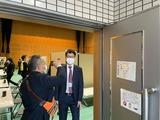 2月28日戸田市コロナワクチン集団接種シミュレーションを視察5