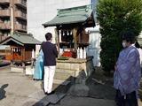 9月11日南区の鹿手袋八幡社で十五夜祭の神事2