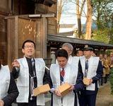 2月3日蕨市の和楽備神社の節分祭
