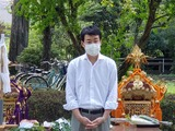 7月10日桜区田島氷川社・夏祭りの神事