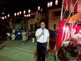 8月9日南区の鹿手袋と二十三夜自治会の盆踊り大会
