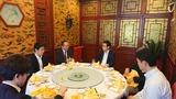 4月14日野村資本市場研究所北京事務所・関根首席代表と昼食