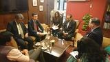 8月2日印商工会議所連合会ソマニ会長・チェノイ事務総長と会談2