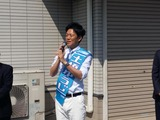 4月6日さいたま市桜区・南区・戸田市・・宣車遊説に街頭演説会2