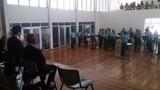 9月8日パプアニューギニアの軍楽隊を視察2