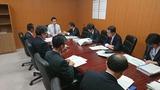 10月11日金融庁の副大臣室にて所管事項説明