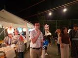 8月17日桜区の白鍬自治会・田島団地の盆踊り大会2