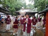 7月14日大谷場氷川神社・鹿手袋2