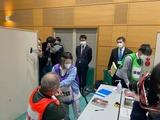 2月28日戸田市コロナワクチン集団接種シミュレーションを視察