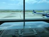 8月6日沖縄県第2滑走路増設中の空港施設・ANA国際物流ハブの視察