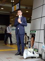 10月12日武蔵浦和駅頭
