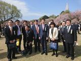 4月15日新宿御苑にて安倍総理主催の桜を見る会