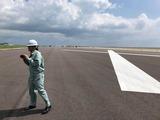 8月6日沖縄県第2滑走路増設中の空港施設・ANA国際物流ハブの視察2