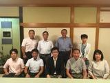 8月9日蕨市議会・新生会の総会2