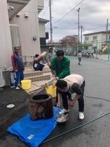 12月2日戸田市芦原町会の餅つき大会2