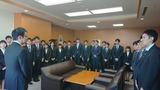 4月2日金融庁・新規採用者の表敬訪問3