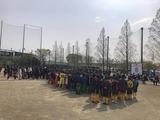 4月7日戸田市サッカー協会主催によるリーグ戦の開会式2