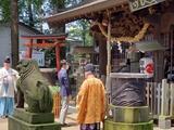 7月19日西堀氷川神社と南区の関神明社・神幸祭2