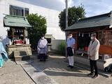 9月11日南区の鹿手袋八幡社で十五夜祭の神事3