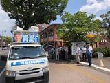 8月17日文化会館第二駐車場前、下戸田ベルクス前にて街頭演説会