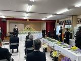 2月28日作間孝次・前芝樋ノ爪町会長を偲ぶ献花式