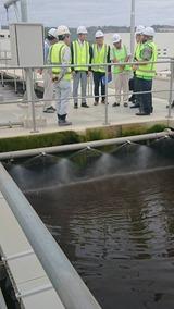 9月7日JICA支援である下水処理場を視察