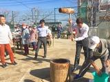 12月3日桜区北上ノ宮自治会の餅つき会