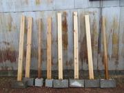 8:支柱6本をブロックに立てる