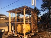 5−屋根にポリカ波板を張る(斜め:南西)