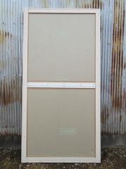 15−合板で正面の扉に断熱材を張る