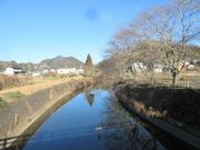 8−自宅裏の川に架かる橋から撮影