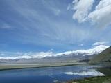 湖面に輝く雪山02