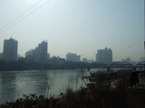 蘭州_黄河を横たふ中山橋