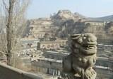 陝北29_楡林(米脂)_李自成行宮から見る窑洞
